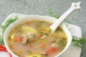 Món ngon bữa tối: Canh hà biển nấu chua lạ miêng, bổ dưỡng