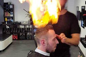 Salon kỳ lạ nhất thế giới cắt tóc cho khách bằng... lửa