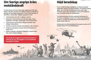 Thụy Điển phát tờ rơi cảnh báo chiến tranh