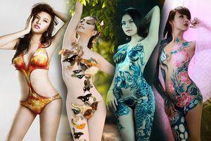 'Bom sex' Lê Kiều Như cùng nhiều mỹ nhân Việt nude vẽ body painting