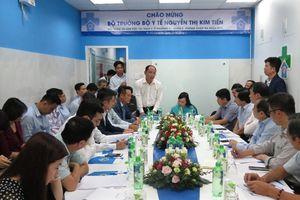Bộ trưởng Bộ Y tế thăm và làm việc tại trạm Y tế và DHA Medic