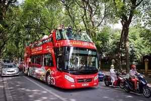 Xe buýt 2 tầng đầu tiên ở Hà Nội chính thức hoạt động