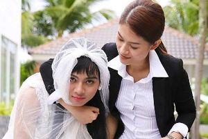 Hoài Lâm mặc áo cô dâu, bị tát nhiều lần trong 'Yêu em bất chấp'