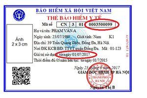 Không in mới, đổi thẻ BHYT từ năm 2019