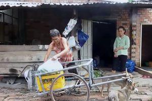Người đàn bà nghèo cùng cỗ xe nhị khuyển gây xúc động