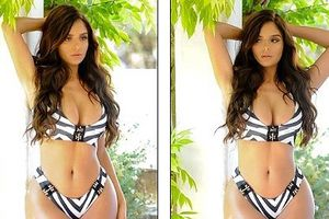 'Siêu mẫu nội y' Demi Rose khoe vẻ nóng bỏng với bikini họa tiết hai mảnh
