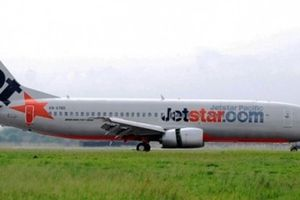 Máy bay phải dừng khẩn cấp vì vướng người đi bộ