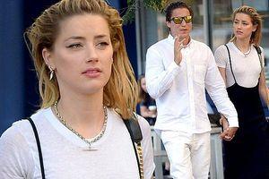 Không nội y, vợ cũ Johnny Depp tay trong tay tình cũ Heidi Klum