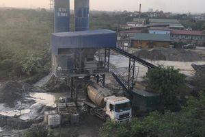 Huyện Gia Lâm - Hà Nội: Trạm trộn bê tông hành dân