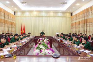 Kiểm tra thực hiện nhiệm vụ quân sự-quốc phòng tại Bộ CHQS tỉnh