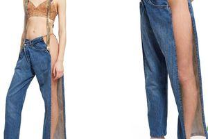 Chiếc jeans gần 15 triệu nhưng khó hiểu để mặc