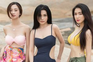 Hòa Minzy – Jun Vũ cùng Sỹ Thanh diện bikini, khoe dáng quyến rũ trên biển