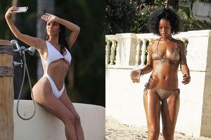 Kim Kardashian, Rihanna gợi cảm với áo tắm lạ mắt