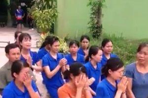 Nghệ An: Hàng chục cô giáo quỳ gối khóc xin được... dạy trẻ