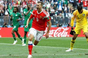 Chủ nhà Nga thắng tưng bừng ngày khai mạc World Cup 2018
