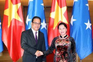 Chủ tịch Quốc hội Liên bang Micronesia kết thúc chuyến thăm chính thức Việt Nam
