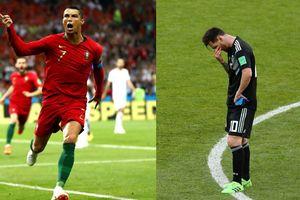 Chứng kiến Ronaldo lập hat-trick, Messi bị 'cóng' sút trượt pennaty?