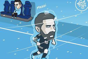 Biếm họa 24h: Iceland 'đóng băng' Messi, Neymar có kiểu đầu mới