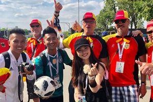 Á khôi Ngọc Nữ rạng rỡ sang Nga xem World Cup, cổ vũ đội Brazil