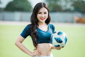 Hot girl xinh đẹp trên VTV cổ vũ tuyển Pháp, mơ ước làm phóng viên ảnh