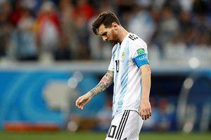 Không bàn thắng, không nụ cười, không niềm vui, không Messi