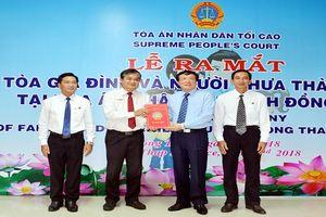 Ra mắt Tòa Gia đình và Người chưa thành niên tại TAND tỉnh Đồng Tháp
