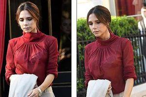 Victoria Beckham mặc đồ xuyên thấu hở bạo, dạo phố cùng con trai cưng