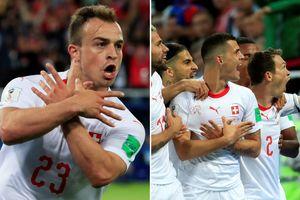Ăn mừng kiểu 'đại bàng', hai cầu thủ Thụy Sĩ có thể bị FIFA phạt