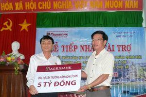 Hỗ trợ huyện đảo Lý Sơn xây trường mầm non đạt chuẩn quốc gia