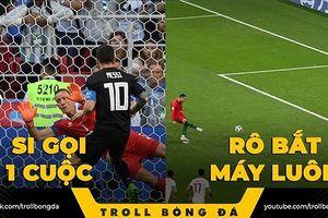 Biếm họa 24h: Messi gọi Ronaldo trả lời, Suarez bắn hạ 'Gấu Nga'