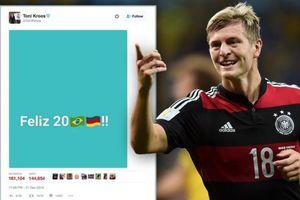 Kroos bị chế nhạo vì dòng trạng thái nhục mạ Brazil cách đây 1 năm