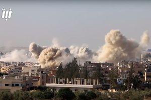 Không quân Syria dội bom, tên lửa 'ầm ầm' xuống cứ điểm phiến quân ở Daraa