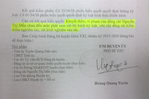 Cố ý làm trái tại Phòng NN và PTNT huyện Na Hang