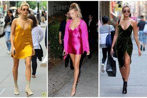 Chưa thấy ai nghiền mặc váy ngủ xuống phố như bạn gái Justin Bieber