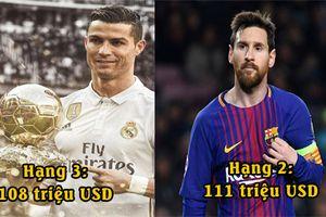 10 vận động viên giàu nhất thế giới năm 2018: Ronaldo và Messi cộng lại vẫn thua xa 'quái vật sàn đấu'