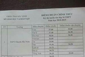 Chính thức công bố điểm chuẩn vào lớp 10 tại Bắc Ninh năm học 2018 - 2019
