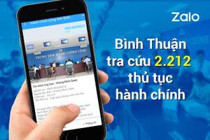 Người dân Bình Thuận nhận kết quả đăng ký kết hôn qua Zalo