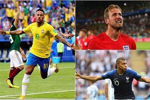 Đội hình tiêu biểu vòng 1/8 World Cup: Không Kane, nhưng có Neymar