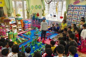 Trường mầm non Sao Mai chú trọng công tác nuôi dạy con trẻ