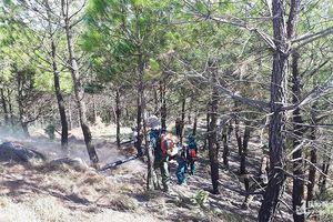 Nắng to, cháy rừng vẫn tiếp tục bùng phát ở Nam Đàn