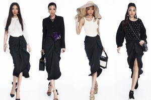 Siêu mẫu Khả Trang biến tấu một kiểu váy thành 10 set đồ