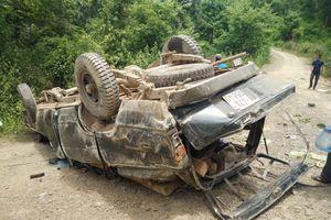 Đắk Nông: Tai nạn lật xe gỗ lậu, 2 người tử vong ngay sát Trạm Quản lí bảo vệ rừng