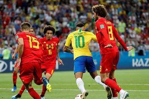 'Kịch sĩ' Neymar chỉ chăm kiếm phạt đền, Brazil thua đau tuyển Bỉ
