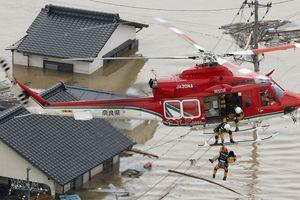 64 người chết vì lũ lụt ở miền Tây và Trung Nhật Bản