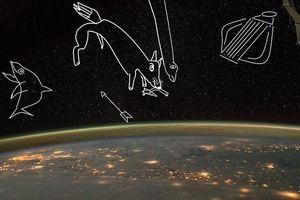 Mô phỏng kỳ thú phi hành gia tự vẽ trên các chòm sao