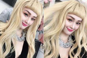 Hạ Vi bị chê kém sắc khi nhuộm tóc vàng hoe