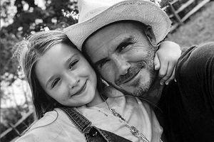 David Beckham mừng sinh nhật con gái yêu Harper 7 tuổi