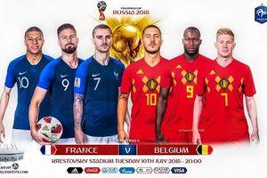 Danh sách, đội hình ra sân của đội tuyển Pháp trong trận bán kết Pháp vs Bỉ ngày 11/7