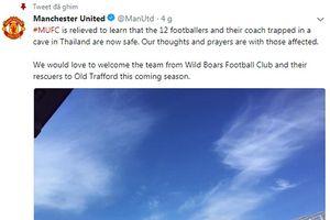 MU mời đội bóng nhí Thái Lan được giải cứu đến Old Trafford