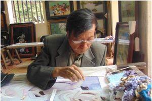 Người nặng lòng với tranh thêu tay truyền thống